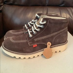 Kickers suede boots size 43 brown men's shoes